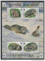 AZERBAIJAN, 2016, MNH, WWF, WILD CATS, MANUL SHEETLET OF 1 SET - Other