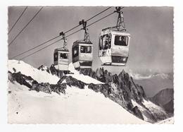 74 Chamonix Mont Blanc Télécabine Aiguille Du Midi Col Du Géant N°416 En 1963 - Chamonix-Mont-Blanc