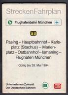 Germany Munchen, Munich 1993 / S Bahn, S8 / Flughafenbahn / Metro / Subway / Trains / Railway / Plan - Europe