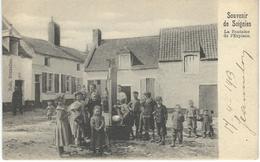 Souvenir De SOIGNIES - La Fontaine De L'Explace - Cachet De La Poste 1903 - Soignies