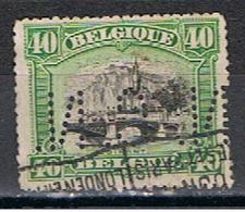 (BE 426) BELGIQUE // YVERT 143 //  PERFIN / PERFORE N C N // 1915 - Perfins