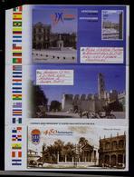 Drapeaux Flags Aérogramme CUBA Cfp Postal Stationery IBEROAMERICANA 199 Horses Transports Architecture église Gc3961 - Flags