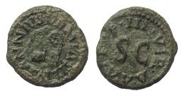 [H] +++ AE Quadrans - AUGUSTUS - RIC² 421 - Simpulum / Lituus --- SCARCE +++ - 1. Die Julio-Claudische Dynastie (-27 / 69)