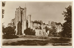 Dunkeld Cathedral Real Photo Postmark 1935 - Kinross-shire