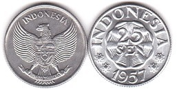 Indonesia - 25 Sen 1957 UNC Lemberg-Zp - Indonesia