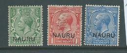 Nauru 1916 - 1923 KGV Overprints At Base 1/2d , 1d & 2&1/2d Values FU - Nauru