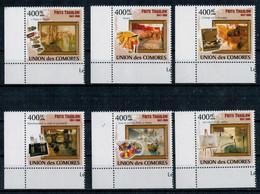 ISOLE  COMORE     IMPRESSIONISTI      FRITS  THAULOW       2009   6 STAMPS   MNH**                  (VIAGGIATA) - Isole Comore (1975-...)