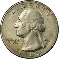 Monnaie, États-Unis, Washington Quarter, Quarter, 1983, U.S. Mint - 1932-1998: Washington