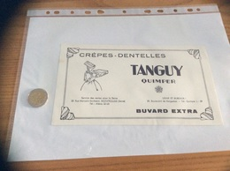"""Buvard """"CRÈPES DENTELLES TANGUY - QUIMPER (29)"""" - Carte Assorbenti"""
