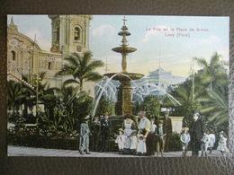 Antique Tarjeta Postal - Peru Perou - La Pila En La Plaza De Armas - Lima - Polack-Schneider N°109 - Pérou