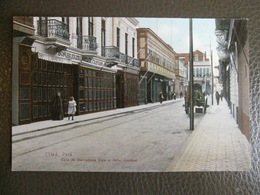 Antique Tarjeta Postal - Peru Perou - Celle De Mercaderes Hotel Gardinal - Lima - Polack-Schneider N°84 - Peru