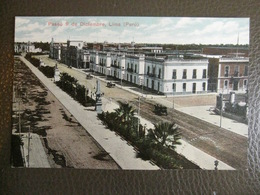 Antique Tarjeta Postal - Peru Perou - Paseo 9 De Diciembre - Lima - Polack-Schneider N°1 - Pérou