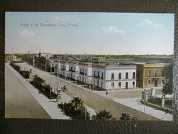 Antique Tarjeta Postal - Peru Perou - Paseo 9 De Diciembre - Lima - Polack-Schneider N°122 - Pérou