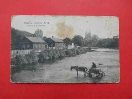 Rezhitsa Rezekne Latvia 1915 General View Of The City, River, Church, Water Carrier. Russian Postcard - Latvia