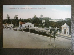 Antique Tarjeta Postal - Peru Perou - Panorama De La Plazuela De La Exposicion - Lima - Polack-Schneider N°117 - Pérou