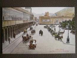 Antique Tarjeta Postal - Peru Perou - La Plaza De Armas En Dia Domingo - Lima - Polack-Schneider N°183 - Peru