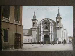 Antique Tarjeta Postal - Peru Perou - Iglesia De San Marcelo - Lima - Polack-Schneider N°152 - Pérou