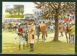 Chevaux; Course De Chevaux En Irlande. Timbre Scott Stamp # 1005. Carte Maximum Card.(4602) - Cartoline Maximum