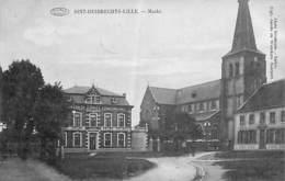 Sint-Huibrechts-Lille - Markt (Uitg. Jacobs En Wonckers, Zeldzaam 1923....verticale Vouw) - Neerpelt