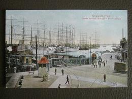 Antique Tarjeta Postal - Peru Perou - Callao - Puerta Principal Muelle Darsena - Polack-Schneider Lima N°189 - Pérou