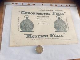 "Buvard ""CHRONOMÈTRE FÉLIX - MONTRES FÉLIX"" - Buvards, Protège-cahiers Illustrés"