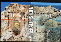 CROATIA, 2019, MNH,ROCKS, MINERALS, S/SHEET - Geology