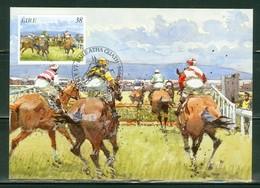 Chevaux; Course De Chevaux En Irlande / Horse Racing. Timbre Scott Stamp # 1004. Carte Maximum Card. (4603) - Cartoline Maximum