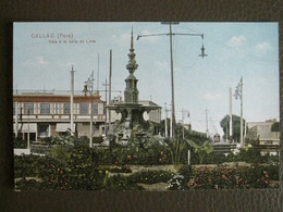 Antique Tarjeta Postal - Peru Perou - Callao - Vista à La Calle De Lima - Polack-Schneider Lima N°45 - Pérou