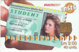 MALTA - N.S.T.S., Tirage 10000, 06/99, Used - Malta