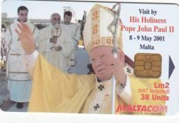 """MALTA - Pope""""s John Paul II Visit, Adeodata Pisani, Tirage 25000, 04/01, Used - Malta"""