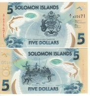 SOLOMON Islands  Just Issued New 5 Dollars  Pnew 2019  Polimer - Salomons