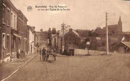 Auvelais - Rue De Rominet Et Vue De L'Eglise De La Sarthe (animée, Peu Vue, Edition D L S 1927) - Sambreville