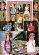 Lady Di 1998 Niger 9 Blocks 110/111+Burkina Faso 1488/6 KB ** 92€ Diana Hojita Blocs Princess Ss Royal Sheets Bf UK - Timbres