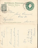 J) 1927 MEXICO, MEXICAN REPUBLIC, ILDEFONSO VAZQUEZ, 2 CENTS GREEN, POSTAL STATIONARY, POSTCARD, CIRCULATED COVER, FROM - Mexico