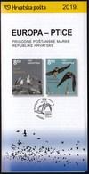 Croatia 2019 / Europa - Birds / Swallow, Sand Martin, Yellow - Legged Gull / Prospectus, Leaflet, Brochure - Croatia