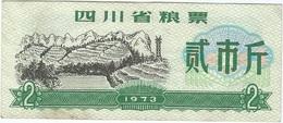 China (CUPONES) 2 Kilos 1973 Sichuan Ref 30 - China