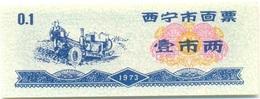 China (CUPONES) 0.10 Jin (1 Liang) = 50 Grs Xining 1973 Ref 453-1 UNC - China