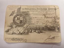 """Carte De Membre De L'association Fraternelle Des Employés Et Ouvriers DES CHEMINS DE FER FRANÇAIS"""" 1932 - 75 X 115 Mm - Non Classés"""
