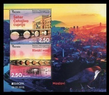 Bosnia And Herzegovina 2018 Mih. 733/34 (Bl.63) Europa-Cept. Bridges MNH ** - Bosnien-Herzegowina