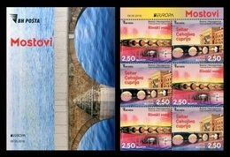 Bosnia And Herzegovina 2018 Mih. 733DE/34DE Europa-Cept. Bridges (booklet) MNH ** - Bosnia And Herzegovina