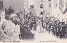 CPA SUISSE @ VALAIS - SALVAN - La Fête Dieu Procession Vers 1908 @ J.J 6459 - VS Valais