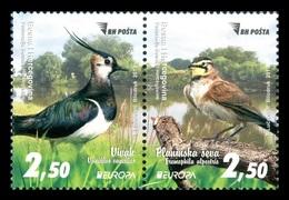 Bosnia And Herzegovina 2019 Mih. 767/68 Europa. National Birds. Fauna. Northern Lapwing And Horned Lark MNH ** - Bosnia And Herzegovina