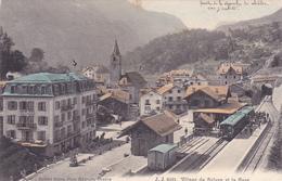 CPA SUISSE @ VALAIS - SALVAN - LA GARE Et Le Train En 1907 @ J.J 6461 - VS Valais