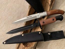 Lot De 2 Couteaux 1 Pliant ( Laguiole Bougna ) Et L'autre Lame Fixe Typebaionnette - Knives/Swords