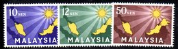 APR1230 - MALAYSIA MALESIA 1963 , Serie Yvert N. 1/3  ***  MNH - Malesia (1964-...)
