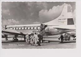 Vintage Rppc KLM K.L.M Royal Dutch Airlines Convair 240 @ Schiphol Amsterdam Airport - 1919-1938: Between Wars