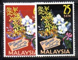 APR1231 - MALAYSIA MALESIA 1963 , Serie Yvert N. 4/5  ***  MNH  Orchidea - Malesia (1964-...)