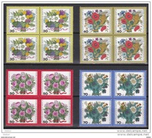 Duitsland Berlin Nr 437/40 In Blok Van 4 **, Zeer Mooi Lot Krt 3663 - Collections (sans Albums)