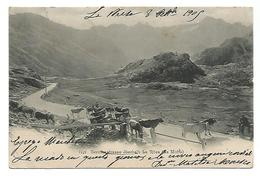 OLD POSTCARD BERNINASTRASSE OBERHALB LA ROSA ( LA MOTTA ) , 1905 . - GR Grisons