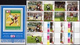 Ss Football 1973 BULGARIA Block 46,Sao Tome 8 Stamps 5.000-10.000D+Rd.** 22€ Fußball-Kampf M/s Bloc/sheet Bf Soccer - Coupe Du Monde